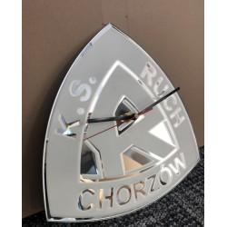 Szklany zegar z logo Ruch...